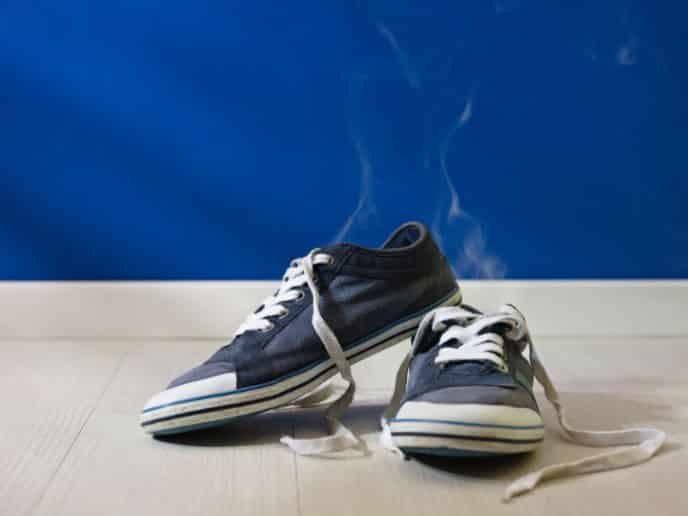 get the smell out of shoes
